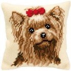 Cross stitch cushion kit Dog