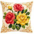 Cross stitch cushion kit Flowers