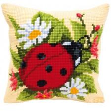 Cross stitch cushion kit Ladybird
