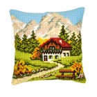 Cross stitch cushion kit Mountain landscape