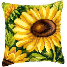 Cross stitch cushion kit Sunflower