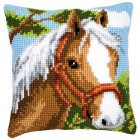 Cross stitch cushion kit Horse