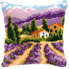 Cross stitch cushion kit Provence