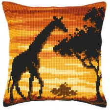 Cross stitch cushion kit Giraffe