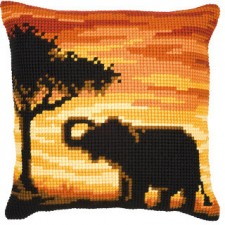 Cross stitch cushion kit Elephant