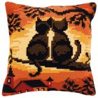Cross stitch cushion kit Cats on a branch