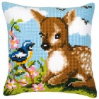 Cross stitch cushion kit A little deer