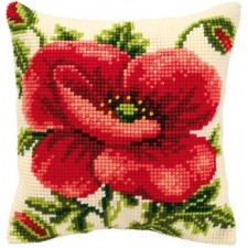 Cross stitch cushion kit Oriental poppy