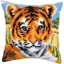 (OP=OP) Cross stitch cushion kit Tiger cub