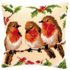 Cross stitch cushion kit Three's a company