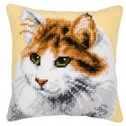 (OP=OP) Cross stitch cushion kit Cat