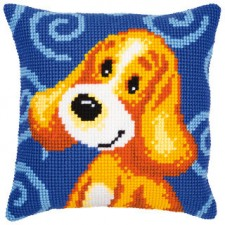 (OP=OP) Cross stitch cushion kit Little dog