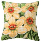 Cross stitch cushion kit Daffodils