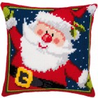 Cross stitch cushion kit Father Christmas
