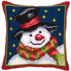 Cross stitch cushion kit Snowman