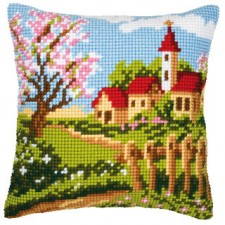 Cross stitch cushion kit Springtime
