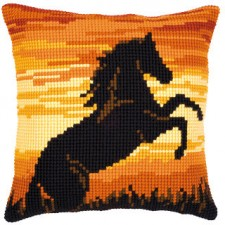 Cross stitch cushion kit Stallion