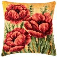 (OP=OP) Cross stitch cushion kit Flowers
