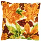 (OP=OP) Cross stitch cushion kit Autumn leaves