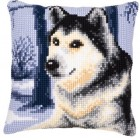 Cross stitch cushion kit Husky