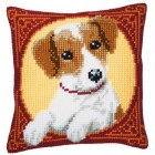 (OP=OP) Cross stitch cushion kit Jack Russell
