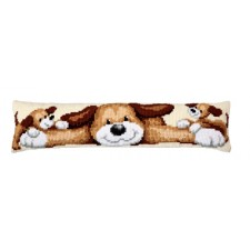 Cross stitch draft stopper kit Dog