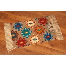 Kruissteek tapijt bloemen