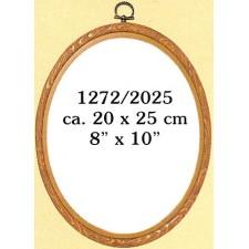 Plastic frame wood colour 20x25 cm (p.1pc.)