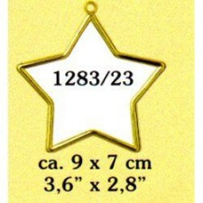 Plastic frame gold star (p.1pc.)