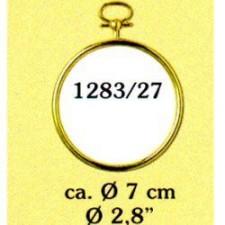 Plastic frame gold circle (p.1pc.)