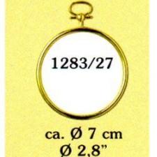 Plastic frame gold circle (p.1pc.)