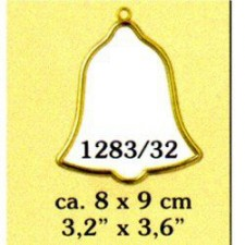 Plastic frame gold clock (p.1pc.)
