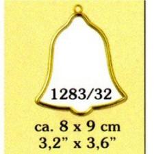 Plastic frame gold clock (p.1pc.)