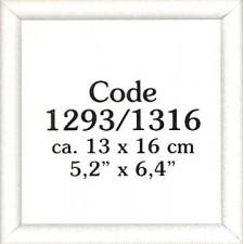 Wooden frame white 13x16 cm (p.1pc.)