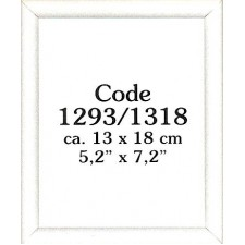 Wooden frame white 13x18 cm (p.1pc.)