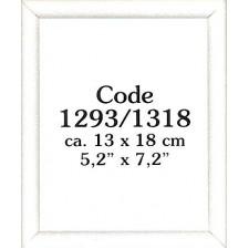 Wooden frame white 13x18 cm (p.1pc.)