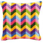 Long stitch cushion kit Colourful waves