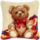 Latch hook cushion kit Bear cub