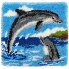 Latch hook cushion kit Dolphins