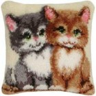 Latch hook cushion kit Cats
