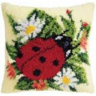 Latch hook cushion kit Ladybug