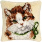 Latch hook cushion kit Cat