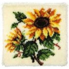 Latch hook cushion kit Sunflowers