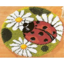 Latch hook shaped rug kit Ladybird