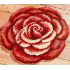 (OP=OP) Latch hook shaped rug kit Rose