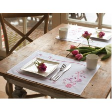 (OP=OP) Placemat kit Pink flowers set of 2