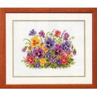 (OP=OP) Counted cross stitch kit Pansy heaven