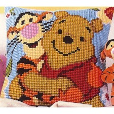 Cross stitch cushion kit Disney Winnie and Tigger