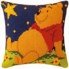 Cross stitch cushion kit Disney Winnie the Pooh