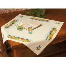 (OP=OP) Aida tablecloth kit Mountain landscape